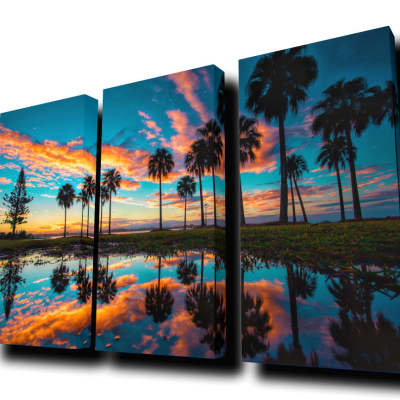 """""""Sunset #7"""" by Ben Mulder - Cascade Acoustic Panels (Wall Mounted/No LED Backlighting)"""