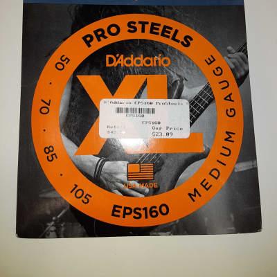 D'Addario EPS160 ProSteels Stainless Bass String Set - Medium .050-.105