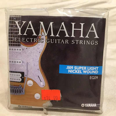 Yamaha  EG09 Nickel Wound Super Light 9-42 Electric Guitar Strings for sale