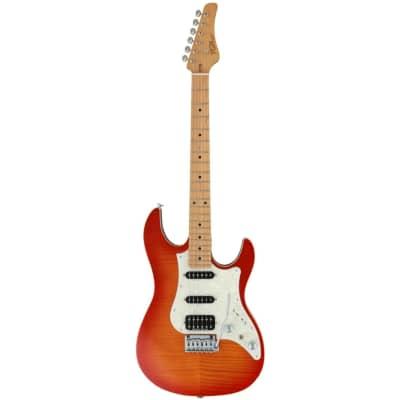 FGN Guitars J-Standard Odyssey FM Fire Burst Electric Guitar with Gig Bag for sale