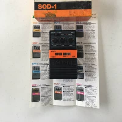 Arion SOD-1 Overdrive Rare Vintage Guitar Effect Pedal MIJ Japan + Original Box for sale