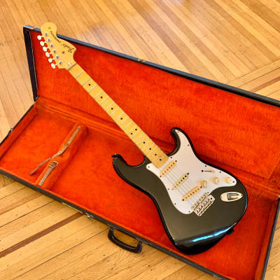 Fender ST-72 86DSC Stratocaster scalloped neck Blackie mij japan original vintage 1972 reissue for sale