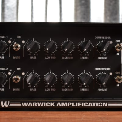 Warwick LWA1000 Two Channel 1000 Watt Bass Amplifier Head Black