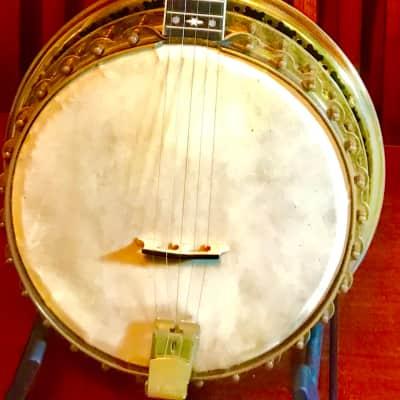 John Grey Custom Brazilian Rosewood resonator Five string banjo 1920,s for sale