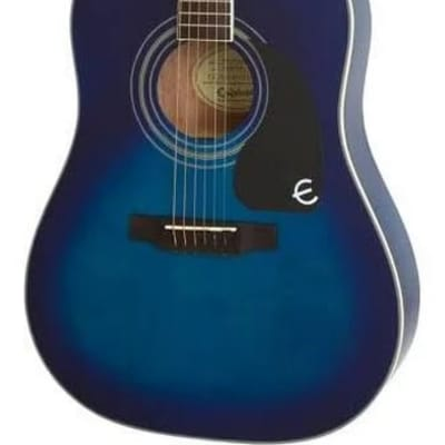 Epiphone EAPPTLCH1 PRO-1 PLUS Acoustic Translucent Blue Chrome Hardware S/N 16091317194 4lbs, 7.1oz for sale