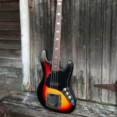 1960s Matsumoku JB-2 MIJ Jazz Bass  Tri-color Sunburst with  TKL HSC for sale