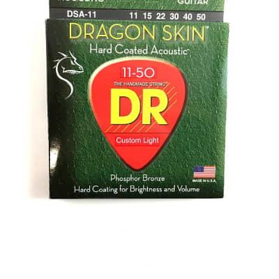 DR Guitar Strings Acoustic Dragon Skin 11-50 Custom Light