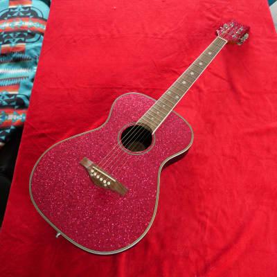 Daisy Rock DR6205 Pixie Concert Pink Sparkle acoustic guitar for sale