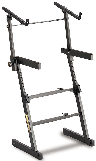 Hercules KS410B adjustable Z-frame keyboard stand with second | Reverb