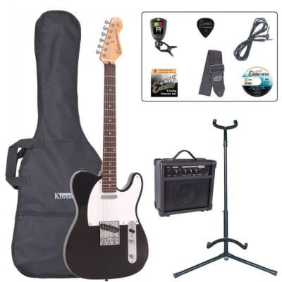 Encore E2 Electric Guitar Pack - Gloss Black for sale