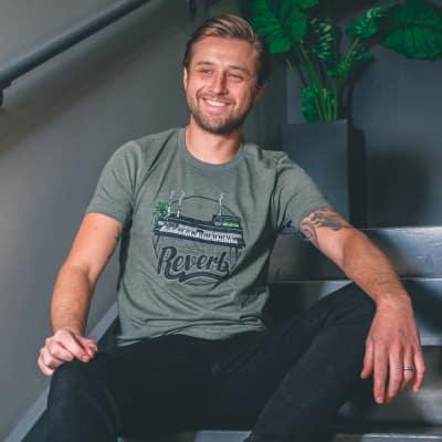 Reverb Rhodes & Space Echo Shirt (Green) - M - Artist Series