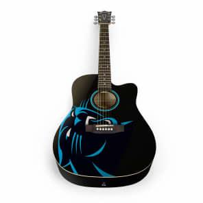 Woodrow Carolina Panthers Acoustic Guitar Graphic