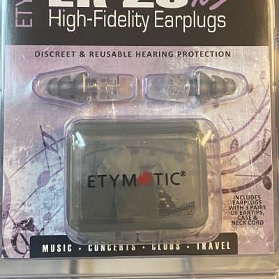 New  Etymotic ER20XS High Fidelity Earplugs; Low-Profile Earplugs