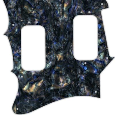 WD Custom Pickguard For Left Hand Fender 2012-2013 Made In Mexico Pawn Shop Super-Sonic #35 Black Abalone