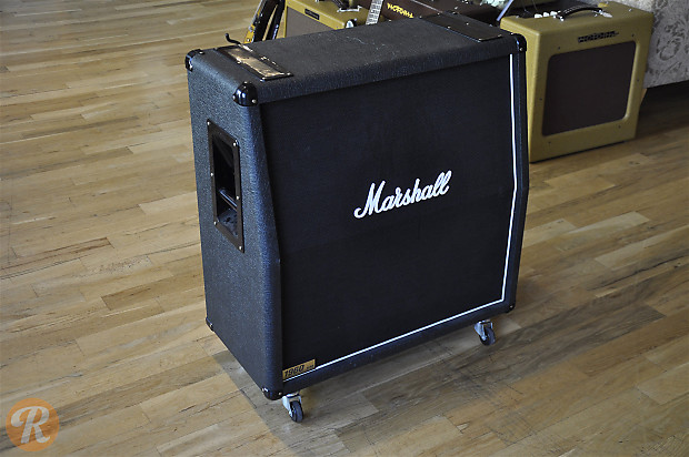 marshall 1960a 4x12 slant cabinet 2000s black price guide reverb. Black Bedroom Furniture Sets. Home Design Ideas