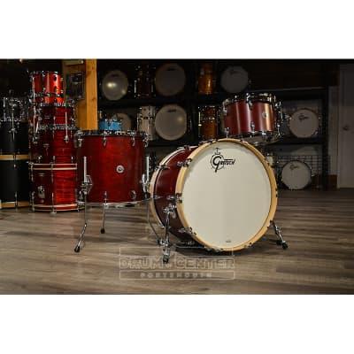 Gretsch Brooklyn 3pc Classic Drum Set Satin Cherry Red