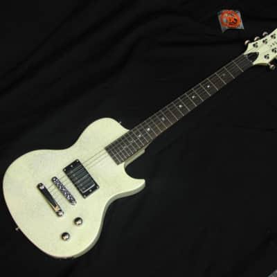 Luna-Aurora-short-scale-electric-guitar-White-Sparkle-NEW-Childrens-Travel-NIB for sale