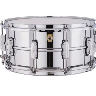 """Ludwig LM402 Supraphonic 6.5x14"""" Aluminum Snare Drum"""