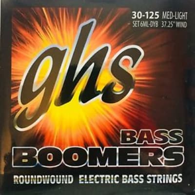 GHS 6MLDYB Bass Boomers 6-String Bass Set, Long Scale 30-125
