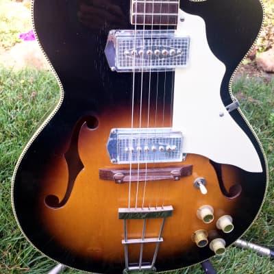 1965 Kay K672 Swingmaster and 704A Vanguard Vibrato Amp for sale
