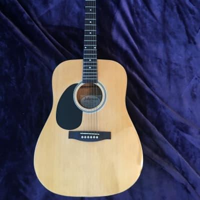 Left-Handed Johnson Dreadnought JG-624-N Acoustic Guitar
