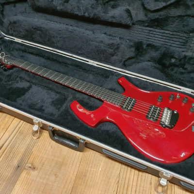 2000 Parker Fly Classic Transparent Red Carbon Fiber Unique Electric Guitar for sale