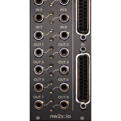 nw2s::io Balanced Line Transceiver - Black Panel