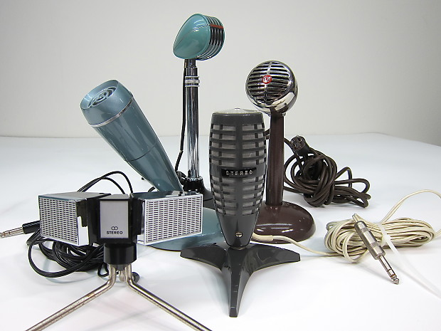 Vintage 1950s Aiwa Rion Microphone Turquoise Teardrop w Reverb