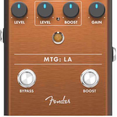 Fender MTG: LA Tube Distortion Analog Guitar Effect Stomp Box Pedal for sale