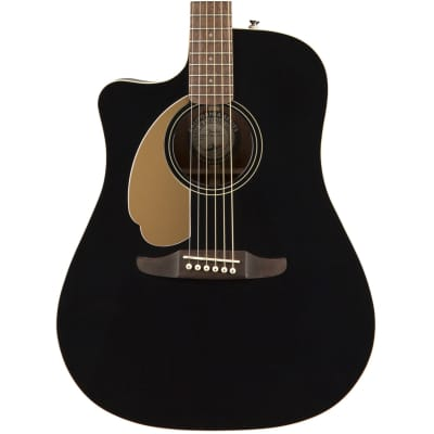 Fender Redondo Player Acoustic-Electric Guitar, Left-Handed, Jetty Black
