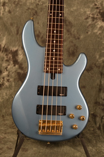 yamaha 5 string bass. yamaha bb-g5s 5 string bass active pickups lake placid blue gold hardware w deluxe gigbag