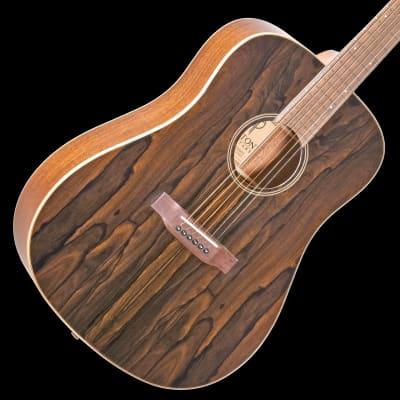 Teton STS000ZIG Dreadnought Guitar ONLY, Gloss Ziricote Top/Satin Mahogany Back & Sides
