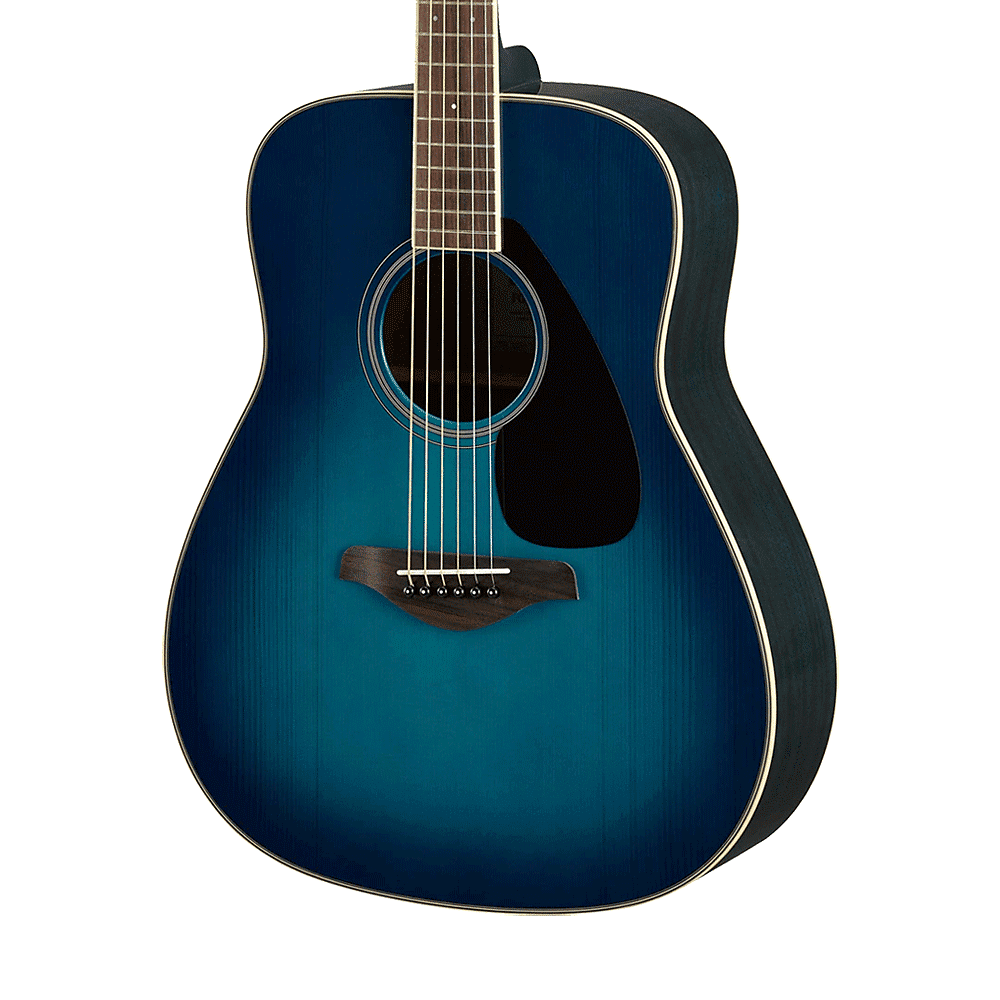 Yamaha fg820 acoustic guitar sunset blue reverb for Yamaha fg820 review