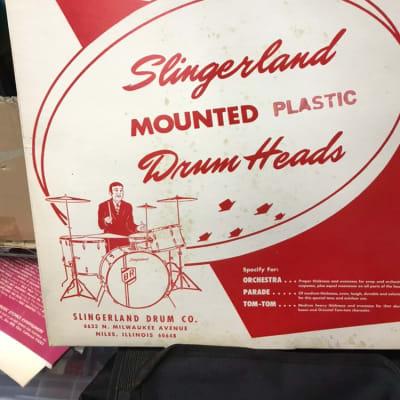 Slingerland  12 tom batter 1962 White
