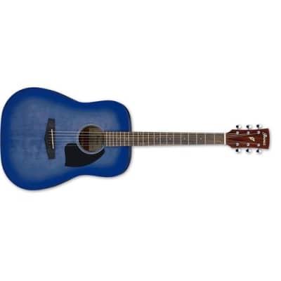 Ibanez Performance Series PF18 6-String Acoustic Guitar, 20 Frets, Mahogany Neck, Laurel Fretboard, Washed Denim Burst for sale