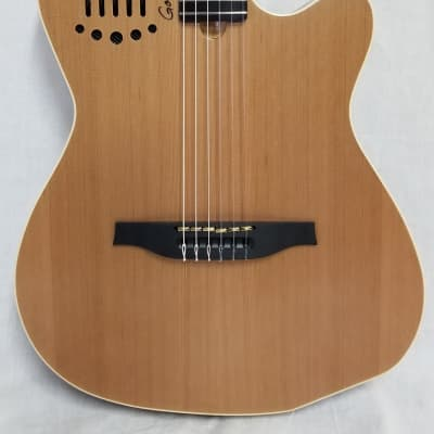 Godin Factory Second ACS-SA Slim Nylon Synth Access Electro-Acoustic Guitar SG W/Bag, minor Flaws for sale
