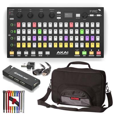 Akai Professional Fire Controller  w FL Studio  Software + Gator Bag + 4 Port USB Hub & More