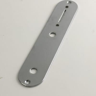 1980s Genuine Fender Reissue Tele Control Plate Chrome Natural Light Relic MIJ
