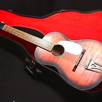 A Vintage Kingston Solid Wood Acoustic Parlor Style Guitar in a Case & Ready to Play   2 G for sale