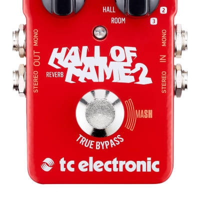 Tc Electronic Hall Of Fame 2 Riverbero A Pedale Per Chitarra True Bypass Tecnologia Mash + 3 Slot Toneprint Usb for sale