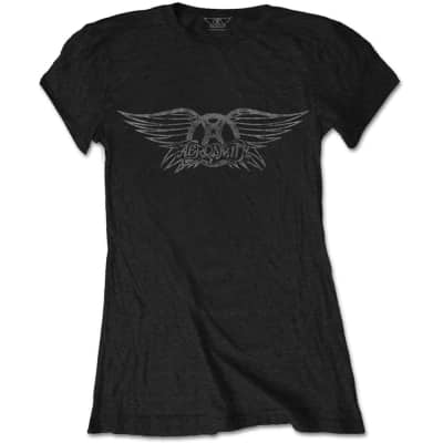 Areosmith Vintage Logo T-shirt Medium Women's 2018 Black