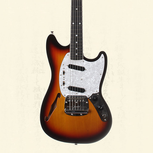 fender japan limited mustang thinline electric guitar three reverb. Black Bedroom Furniture Sets. Home Design Ideas