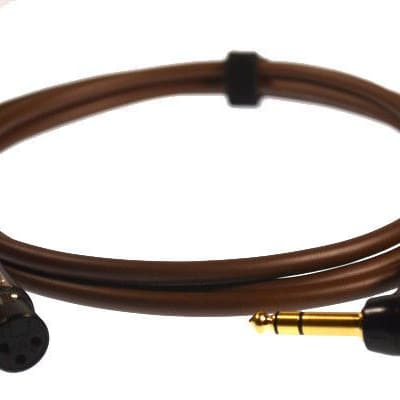 "Professional 3-Pin XLR Female to TRS ¼"" Stereo Right Angle Jack Van Damme Cable[3m,brown]"