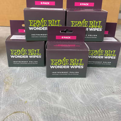 Ernie Ball Ernie Ball - 6 boxes- 6 pack Instrument Polish wipes 2019 for sale