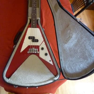 70's Vantage FV-575B Short Scale Bass Guitar w Case Matsumoku Factory Flying V Japan
