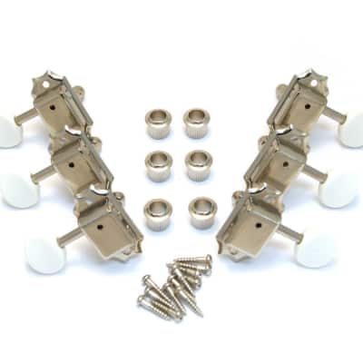TK-0977-001 Gotoh Nickel 3x3 White Button Vintage Guitar Tuners for sale