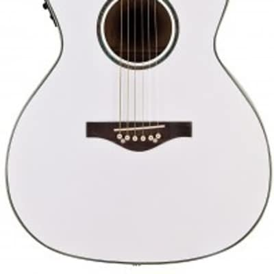 Daisy Rock Wildwood Artist Acoustic Electric Guitar 14-6274  Pearl White for sale