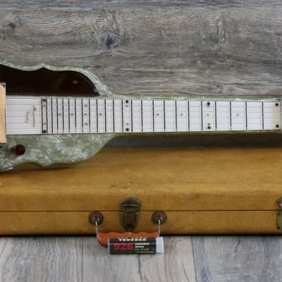 Vintage! 50's Magnatone Varsity Ruby Lap Steel Grey Pearloid + OHSC for sale