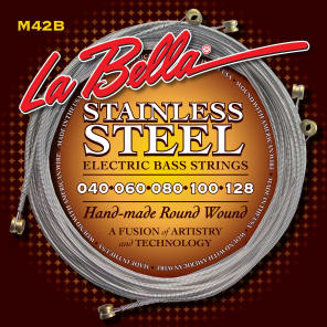 La Bella MB42B-S Stainless Steel Round Wound 5-String Bass Strings - Custom (40-128)