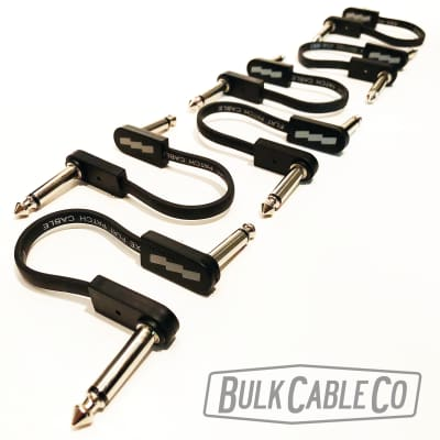 """EBS Flat Patch Cables - 6 Pack - 4"""" Length - PCF-DL10 Deluxe - Thin RA/RA Cable - 3.94""""/10cm"""